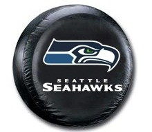 Seattle Seahawks NFL Tire Cover - Black Vinyl
