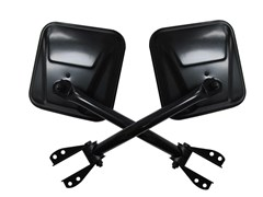 Side Mirrors, 55-86 Jeep CJ, Black