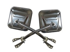 Side Mirrors, 55-86 Jeep CJ, Stainless