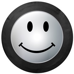 Smiley Face Tire Cover - Silver
