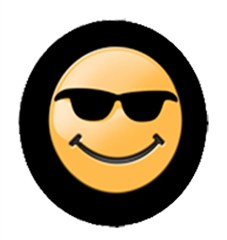 Smiley Face with Sunglasses Tire Cover