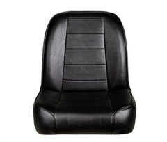 Front Bucket Seat Low Back  for Jeep CJ models 1955-1976 - Black Vinyl