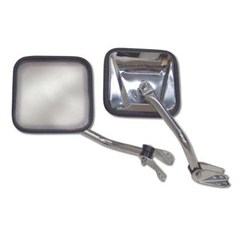 Side Mirrors, Stainless for Jeep CJ models (1955-1986)