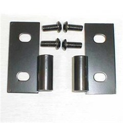 Lower Door Hinge Brackets in Black for Jeep CJ, YJ, TJ & LJ (1976-2006)