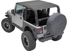 Extended Bikini Top, Jeep JK (2007-2009), Mesh Black