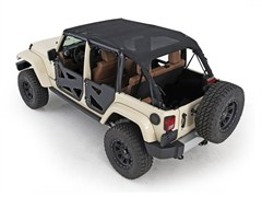 Outback Extended Bikini Top for 4 Door Jeep Wrangler JK Unlimited 2010-2014 - Mesh