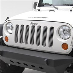 Billet Grille Insert Wrangler JK 2007-2017 in Chrome by Smittybilt