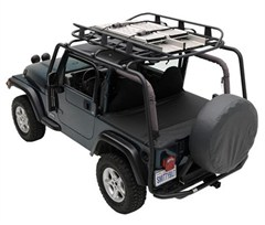 SRC Roof Rack 300 Lb. Wrangler JK 2D 2007-2017 Textured Black