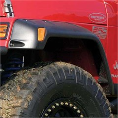 "Fender Flares 6"" wide for Jeep Wrangler TJ and LJ 1997-2006 - Textured Black"
