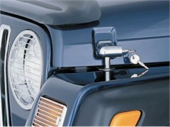 Locking Hood Catch Kit, Chrome for Jeep TJ & LJ (1997-2006)
