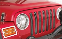 Billet Grille Insert for Jeep Wrangler TJ and LJ Unlimited 1997-2006 - Chrome