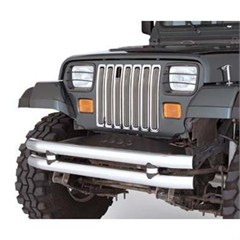 Euro Headlight Guard 4 Piece Set for Jeep YJ (1987-1995), Black