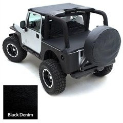 Tonneau Cover for Jeep Wrangler YJ 1992-1995 - Denim Black