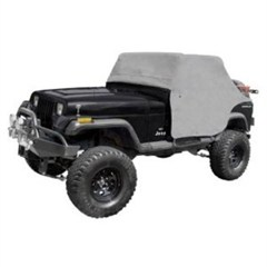 Water Resistant Cab Cover with door flap for Jeep Wrangler YJ 1987-1991 - Gray