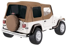 Soft Top, OEM Replacement, w/ Door Skins, 87-95 Jeep Wrangler, Spice w/ Tint Windows