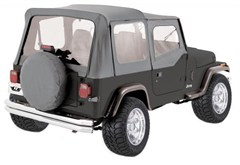 Gray Replacement Skin w/Clear Windows & Door Skins YJ 1987-1995
