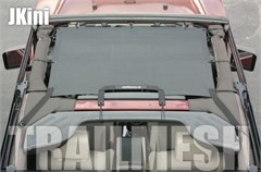 SpiderWeb JKini TrailMesh for Jeep Wrangler JK 2007-2014, Bungee Cord Shade Top