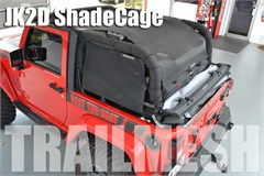 SpiderWeb ShadeCage for Jeep Wrangler JK 2 Door 2007-2014 4 piece TrailMesh Top