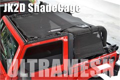 SpiderWeb ShadeCage for Jeep Wrangler JK 2 Door 2007-2014 4 piece UltraMesh Top