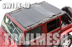 SpiderWeb TrailMesh ShadeTop for Jeep Wrangler 4 door JK 2007-2014, Bungee Cord Shade Top
