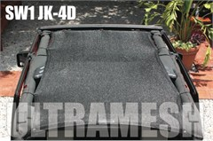 SpiderWeb Ultramesh ShadeTop for Jeep Wrangler Unlimited 4 door JK 2007-2014, Bungee Cord Shade Top