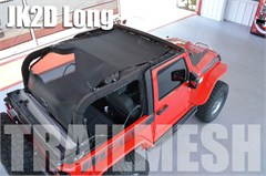 SpiderWeb Extended ShadeTop Trailmesh for Jeep Wrangler 2 door JK 2007-2014, Shade Top