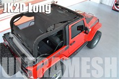 SpiderWeb Extended ShadeTop Ultramesh for Jeep Wrangler 2 door JK 2007-2014, Shade Top