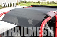 SpiderWeb TrailMesh ShadeTop for Jeep Wrangler YJ & TJ  1992-2006, Bungee Cord Shade Top