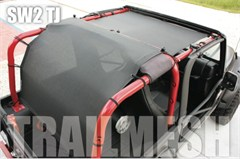 SpiderWeb TrailMesh 2 piece ShadeTop for Jeep Wrangler 2 door TJ 1997-2006, Bungee Cord Shade Top