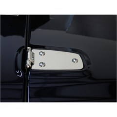 STAINLESS HOOD HINGES, 97-06 JEEP WRANGLER/UNLIMITED