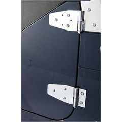 STAINLESS JEEP DOOR HINGES, 94-95 WRANGLER WITH FULL STEEL DOORS