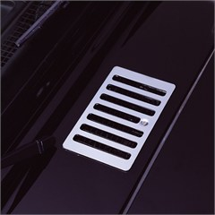 STAINLESS JEEP HOOD VENT COVER, 98-06 WRANGLER/UNLIMITED