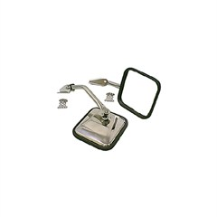 Pair of Stainless Steel Side Mirrors for Jeep CJ (1955-1986)