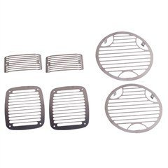 Stone Guard Stainless Light Guard Set, 97-06 TJ, LJ Jeep Wrangler
