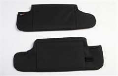 Sun Visor Organizer Pair Wrangler JK 2010-2016 Black Rugged Ridge