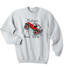 Future Rock Star Sweatshirt, Grey, for Jeep Kids