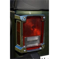 Tail Light Cover Wrangler JK 2007-2016  Chrome Rugged Ridge