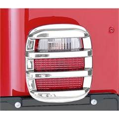 Tail Light Guard Set, 1976-2006 CJ & Wrangler, Chrome