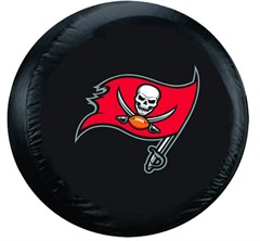 Tampa Bay Buccaneers NFL Tire Cover - Black Vinyl