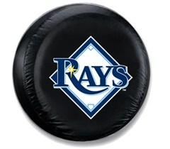 Tampa Bay Rays MLB Tire Cover - Black Vinyl