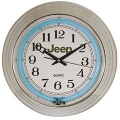 Jeep Neon Wall Clock (Blue Neon)