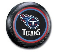 Tennessee Titans NFL Tire Cover - Black Vinyl