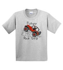 "T-Shirt  for Jeep Kids - ""Future Rock Star"""