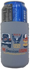 """The American Legend"" Neoprene Koozie by All Things Jeep - Set of 2"