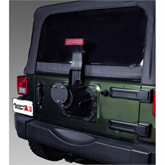 RUGGED RIDGE TIRE CARRIER SPACER, TEXTURED BLACK, JEEP CJ & WRANGLER