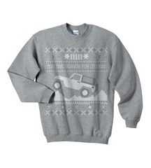 """Tis the Season"" Christmas Sweater Print Youth Crewneck in Gray"
