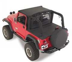 Tonneau Cover, w/ Factory Soft Top, Channel Mount, 87-91 Jeep Wrangler, Denim Black