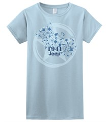 Light Blue Jeep Tee, Star+Vines, Women's Short Sleeve Shirt