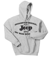 Jeep Guaranteed Original Hooded Sweatshirt, Ash Grey