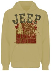 Jeep Hooded Sweatshirt, Go Anywhere Do Anything, Sand